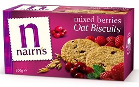 Nairn's Oat Biscuits, Mixed Berries, 7.1-Ounce Boxes (Pack of 6)