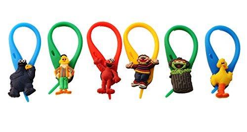 [AVIRGO 6 pcs Colorful Soft Zipper Pull Charms for Backpack Bag Pendant Jacket Set # 94-4 by Hermes] (Ernie From Sesame Street Costume)