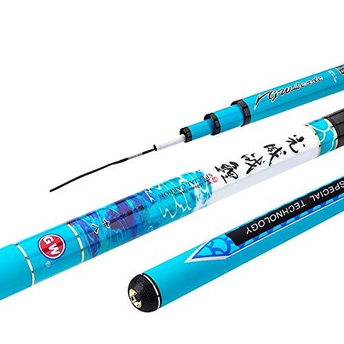 GWM Pole Spinning Carp Retractable Telescopic Portable Superhard Elastic Fishing Rod Carbon Super Hard To Adjust Casual Athletic Wild Fishing Black Pit Fishing Carp Sea Fresh Saltwater Travel Lake Riv