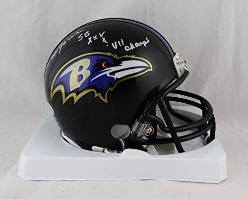 Ozzie Newsome Autographed Baltimore Ravens Mini Helmet w/Insc- Beckett W Auth Silver