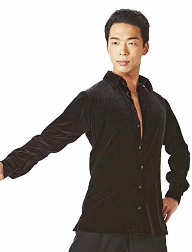 Taka Dance Black Men's Velour Shirt by TAKA DANCE