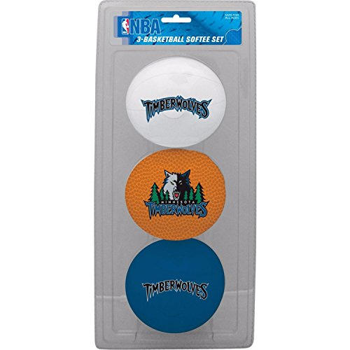 fan products of NBA Minnesota Timberwolves Kids Softee Basketball (Set of 3), Small, Green