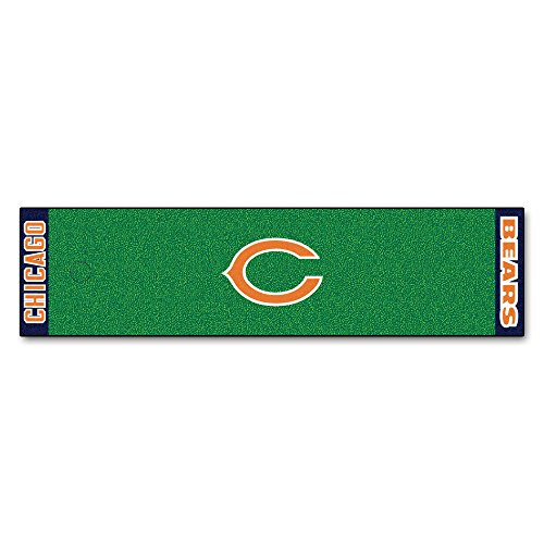 FANMATS NFL Chicago Bears Nylon Face Putting Green Mat