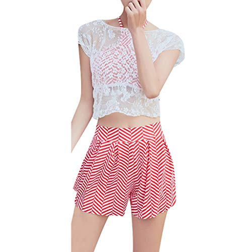 YOcheerful Summer Women Bathing Suit,Fashion Lovely Swimwear Ladies Swimsuit Two Piece Bikini and Cover Up Swimsuit Pink
