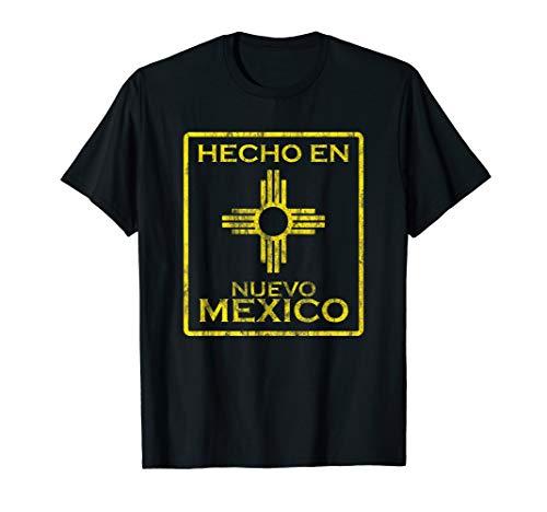 (New Mexico Tshirt Zia symbol distressed Hecho en New Mexico)