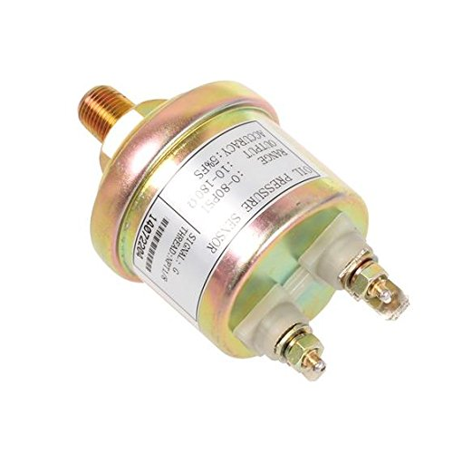 AUTEX Crankshaft Oil Pressure Sender/Pressure Sender/Pressure Transmitter compatible w/VDO Type 0-80 Psi