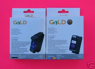 Remanufactured Ink Cartridge Replacement for HP 15 C6615DN HP 78 C6578DN (1 Black 1 Color)