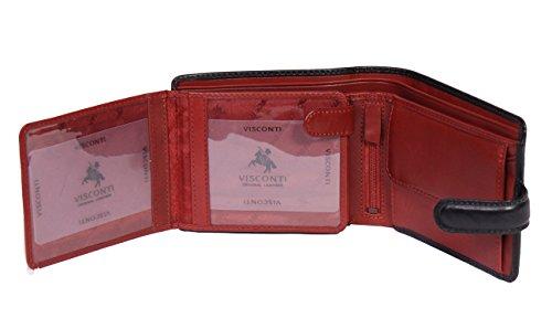 Qualità Nero in Portafoglio Alta Monete credito Sezioni pelle italiano Uomo Biglietti Carte Id di Carlo RaZx5Ewqa
