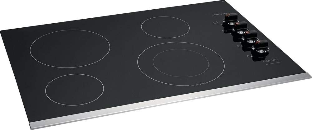 Frigidaire FFEC3025US 30 Inch Electric Smoothtop Style Cooktop with 4 Elements in Stainless Steel