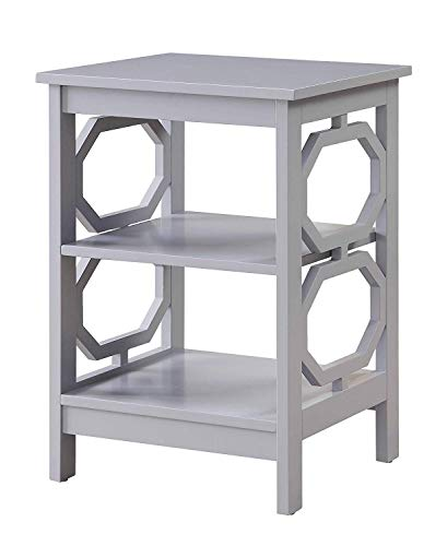 - Convenience Concepts Omega End Table, Gray
