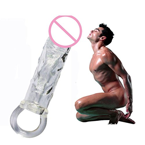 4*17cm Cock Rings Sexy Toys Male Penis Adult Sex Product Sleeve Cock Ring Extender (Clear)
