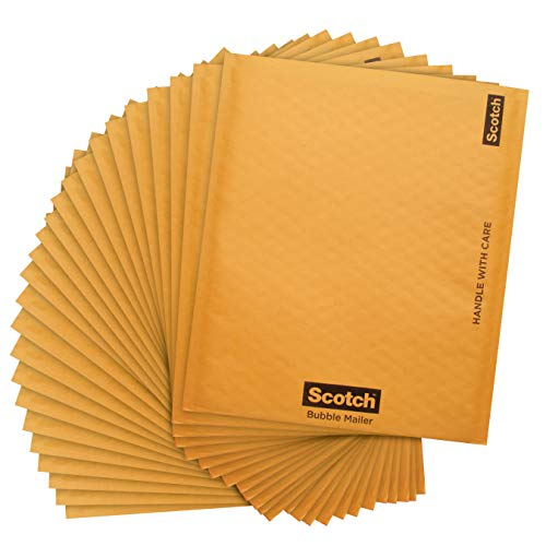 Scotch Bubble Mailer, 8.5 x 11-Inches, Size #2, 25-Pack by Scotch