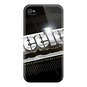 AnnaDubois Iphone 4/4s Anti-Scratch Hard Phone Case Customized HD Pittsburgh Steelers Image [jks16061wxVG]