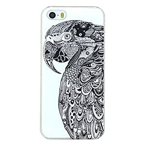 GJY Serious Parrot Pattern PC Hard Back Cover Case for iPhone 5/5S