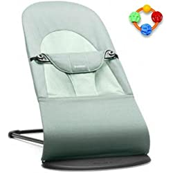 cb879086df9 Baby Bjorn Infant Baby Bouncer Balance - Frost Green with Click Clack Balls  Teether
