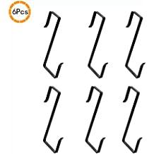 Y&M Home Over the Door and Hat Rack Iron Cloth Hooks - 6pcs
