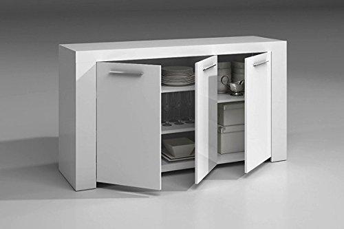 Mueble armario aparador buffe 144 cm de comedor o salón con 3 ...