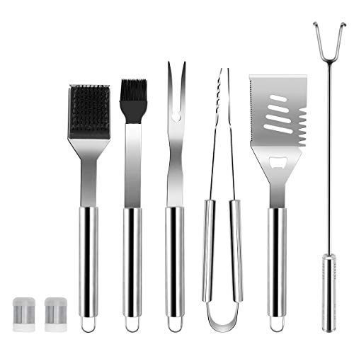 HARBORII BBQ Grill Tool Set- Stainless Steel Barbecue Utensil Kit Grilling Accessories for Smoker, Camping, Kitchen…