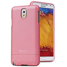 GreatShield Samsung Galaxy Note 3 [iSlide] Slim-Fit PolyCarbonate Hard Rubberized Case Cover (Blush Pink)
