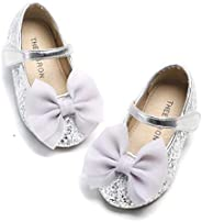 THEE BRON Toddler Girl Classic Princess Flats Ballet Dress Shoes