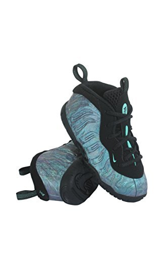 NIKE Little Posite One PRM Toddlers' Shoes Black/Aurora Green/Black ao8038-009 (8 M US)