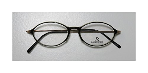 Rodenstock R5133 Mens/Womens Oval Full-rim Eyeglasses/Spectacles (47-14-135, Dark Green / Gold)
