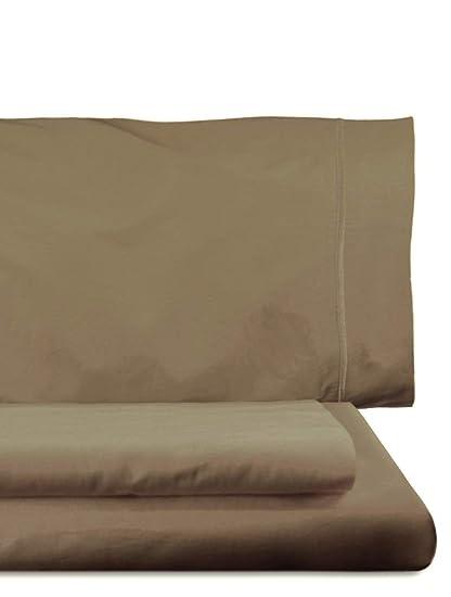 Home Royal - Juego de Funda nórdica, 270 x 260 cm, Bajera, 280 x 280 cm, 2 Fundas para Almohada, 45 x 110 cm, Color castaño