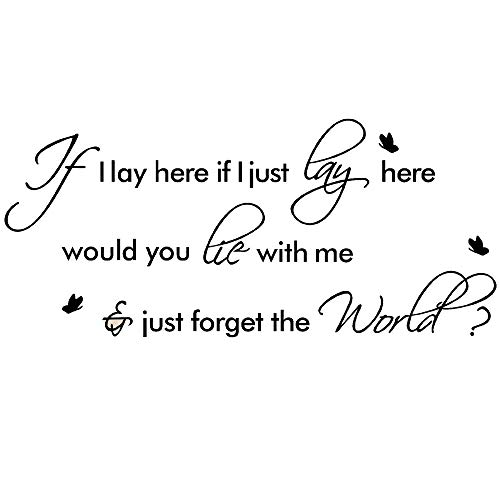 if i lay here wall decal - 6