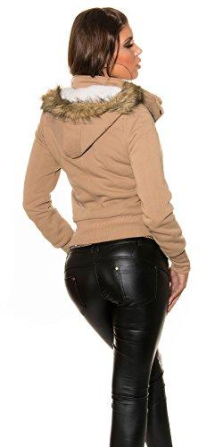 In-Stylefashion - Abrigo - para mujer marrón claro