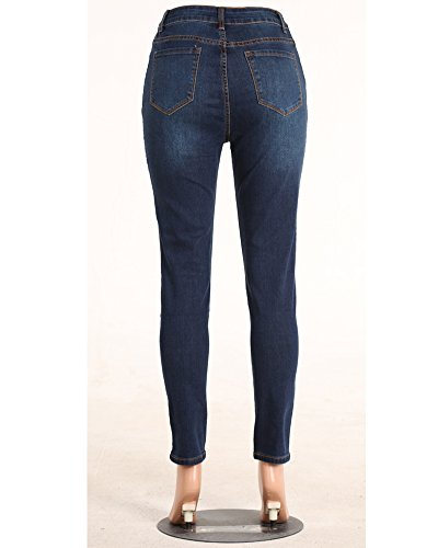 Delle Alta Strappati Pantaloni Immagine Donne Jeans Leggings Sigaretta Skinny Come I Vita Scarni qx4gx8w