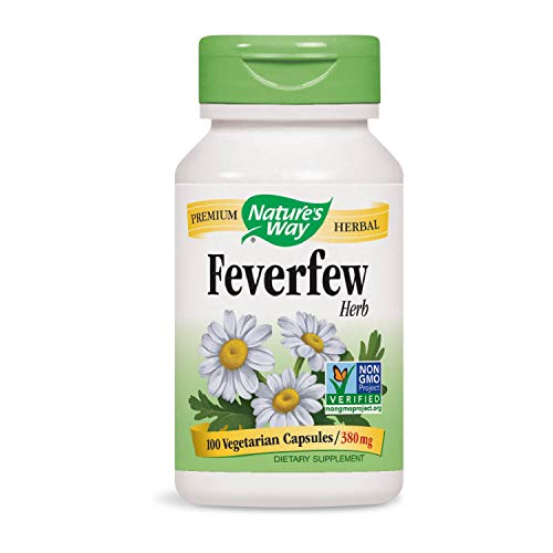 Nature's Way Feverfew 380 mg TRU-ID Certified Non-GMO Project Vegetarian; 100 Count