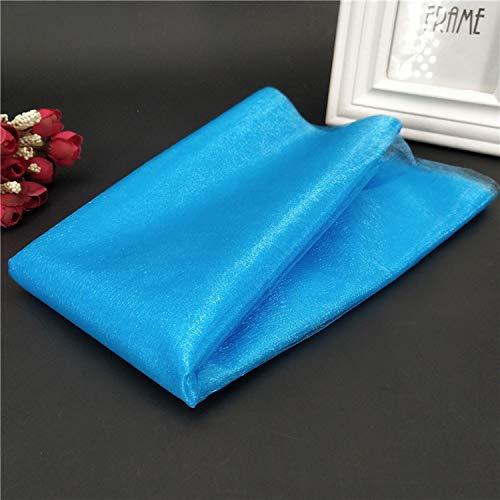 Miao Express 1Pcs 48CMX5M Tulle Roll Wedding Table Decoration Roll Fabric Spool Tutu Birthday Gift Wrap 5Z-SH015,Light Blue