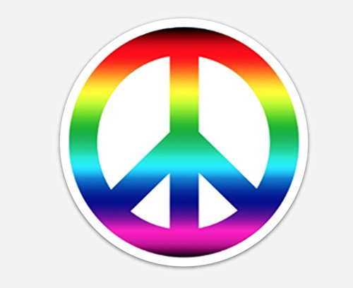 <span style=''>[해외]Peace Sign Rainbow Tie Dye 4 Round Bumper Wind..</span>