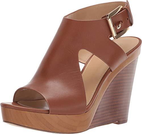- Michael Michael Kors Womens Josephine Wedge Peep Toe, Luggage Vachetta, Size 6.0