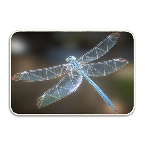 SPEEON Animated Dragonfly 3D Model Absorbent Anti-Slip Mat Indoor/Outdoor Decor Rug Doormat 15.7 X23.6 Inch Home -