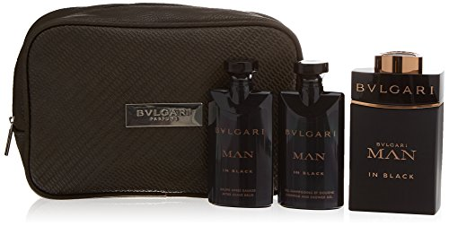 - Bulgari Men's Spray 3.4 Oz, Shampoo/Shower Gel 2.5 Oz, After Shave Balm 2.5 Oz, Pouch in Gift Box