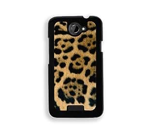 Jaguar Skin - Protective Designer BLACK Case - Fits HTC One X / One X+