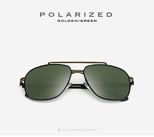 Gafas Sol Sol Polarizadas Viaje 1 de Adultos Estilo Hombres Unisex Gafas Gafas para Conducción UV400 de Vintage Cuadradas Espejo ZX Gafas Classic para Mujeres de de wqEHR4T