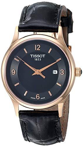 Tissot womens Dream Steel And 18K Gold Dress Watch Black T9142104605700