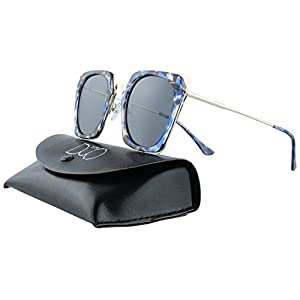 Duco Polarized Square Women Sunglasses Cateye Rimmed Fashion Geometric W001
