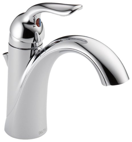 (Delta Faucet Lahara Single-Handle Bathroom Faucet with Diamond Seal Technology and Metal Drain Assembly, Chrome 538-MPU-DST)