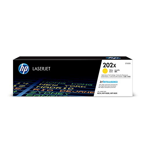 HP 202A (CF502A) Yellow Toner Cartridge  for HP LaserJet Pro M254 M281cdw M281dw