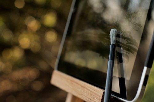 Nomad FleX Long Tip Paint Brush Stylus by Nomad Brush | The Nomad Stylus Drawing Stylus for iPad (Blue)
