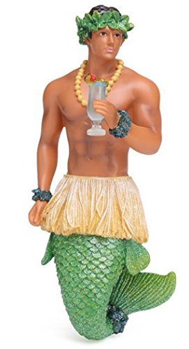 December Diamonds Blue Hawaii Merman with Drink Christmas Ornament 5555042 New (Ornaments Christmas Tree Collectible)