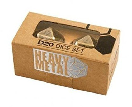 Ultra Pro Heavy Metal D20 2-Dice Set - Antique Bronze