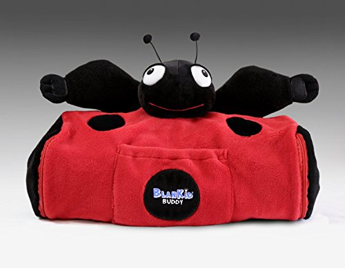 BlanKid Buddy 4-In-1 Backpack, Blanket, Pillow, and Plush Animal - Lula the Ladybug