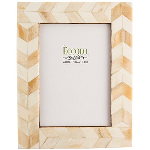 Eccolo Naturals Frame, 5 by 7-Inch, Chasing Arrows Ivory