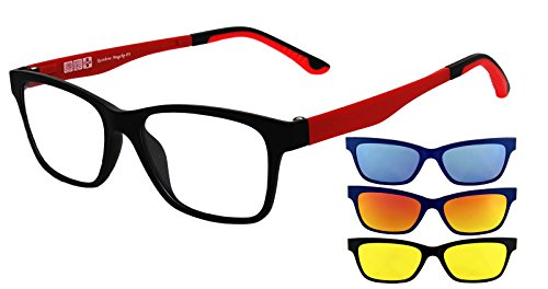 Polarisée Clip MagClip Monture Soleil on RMCRED de Yellow SAFETY RMCRED Clip Magnétique Red Blue de Lunettes Optique Lunettes Lunettes RAINBOW Rainbow Pw6Bqx1