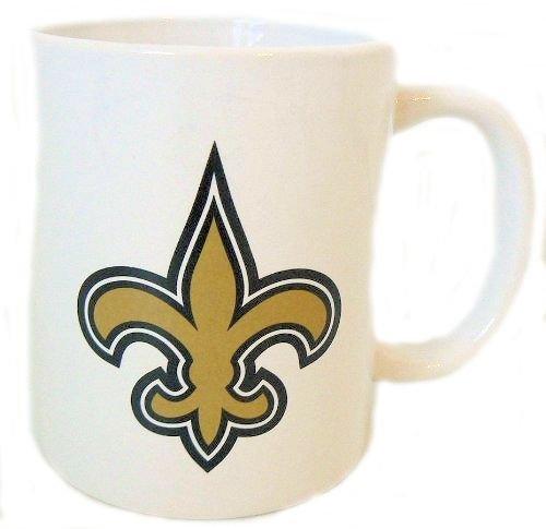 NFL Officially Licensed White 11 Oz Ceramic Mug (New Orleans (Pbr Ceramic)