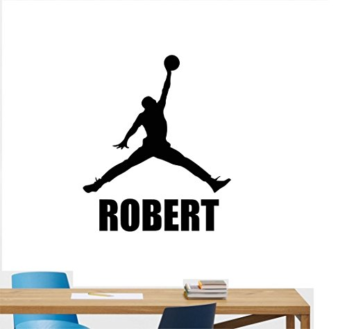 all Air Jordan Basketball Player Vinyl Decal Custom Name Sticker Boys Room Decor Mural (22